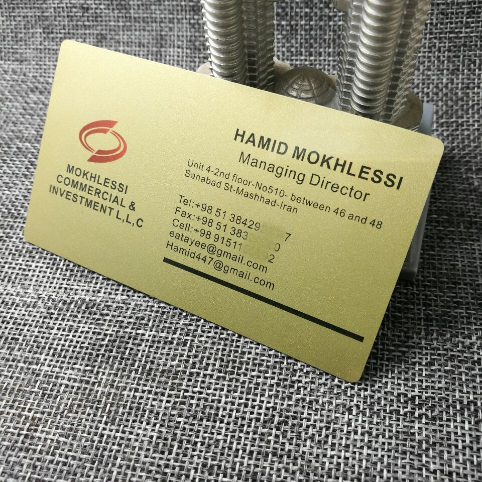 Plastic printed PVC customized