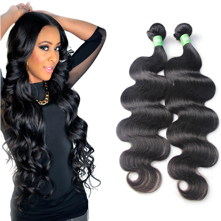 Grade 9a wholesale factory price Brazilian unprocessed human hair extensions bundles with closure, Natural color #1b