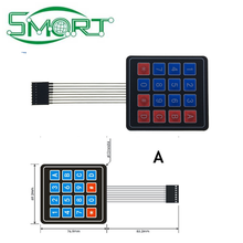 Smart Electronics~1*2 3 4 5 Key Button Membrane Switch 3*4 4X5 Matrix Array Keyboard 1X6 Keypad with LED Control Panel Pad