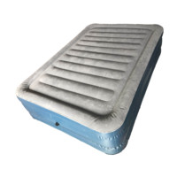 Soft flocking Elevated Raised Inflatable Air Bed