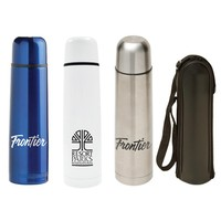Bullet flask with stainless steel vacuum thermos flask set