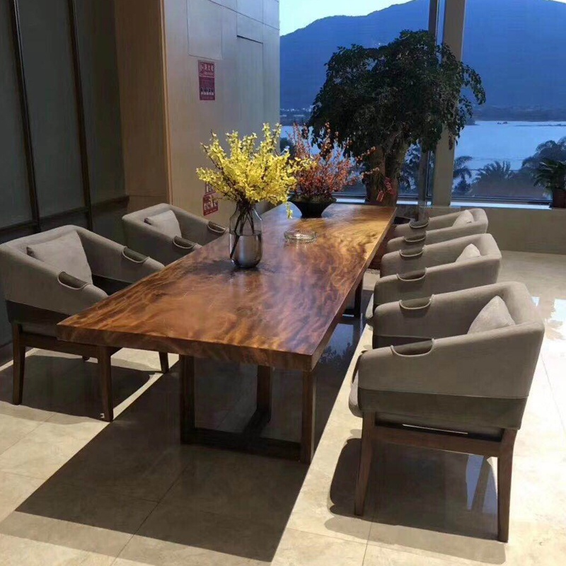big conference table from south american walnut slab live edge natural solid wood table in stock