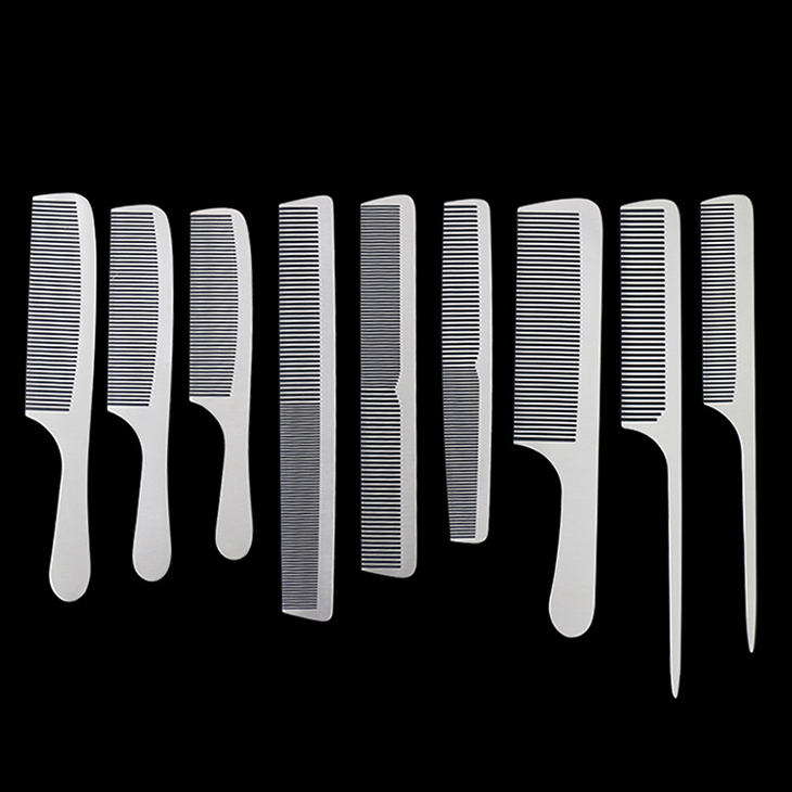 China Suppliers Barber Professional Hairdressing Salon Tools Stainless <strong>Steel</strong> Metal <strong>Hair</strong> Cutting <strong>Comb</strong>