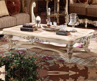 OE-FASHIONEuropean solid wood living room solid wood marble tea table French coffee table Luxury custom furniture
