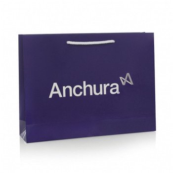 Luxury matte shopping paper bag with logo for clothing packaging