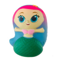 2019 Mermaid Shape Squishy Toys Scented Animal Stress Balls Cheap Customized Princess Style Slow Rising Toys Gifts For Kids