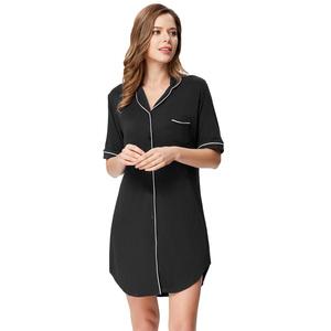 d4ec49df47a62 ZE Women's Comfy Short Sleeve Modal Sleep Dress Sleepwear Nightdress Nightie  ZE0153