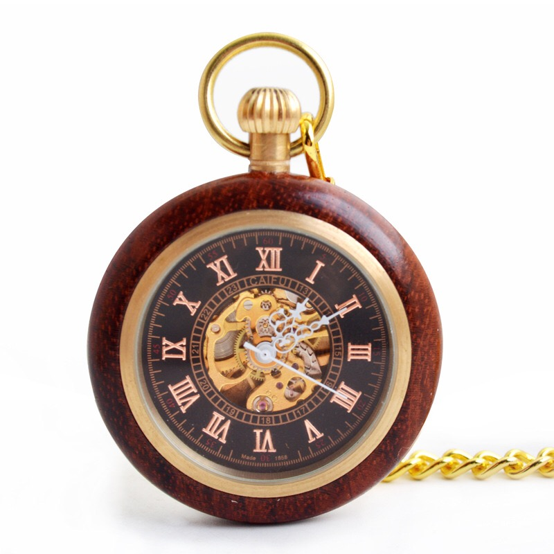 wood pocket watch, mechanical wrist watches , fast <strong>delivery</strong>