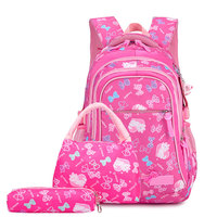 Wholesale student book bags children school bag set new style kids backpack nylon school bags for girls