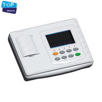 Best price Digital 3 Channel electrocardiograph Machine / portable medical electrocardiograph 12 channel ECG