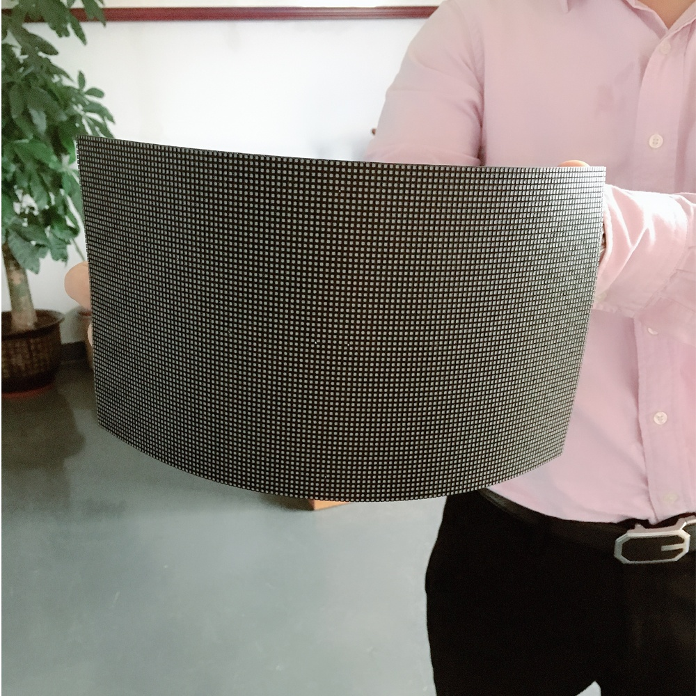 Indoor advertising curved led wall panel round circle soft led module P2.5 flexible led panel
