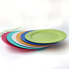 natural bamboo fiber cartoon kid plates children plates serving plates