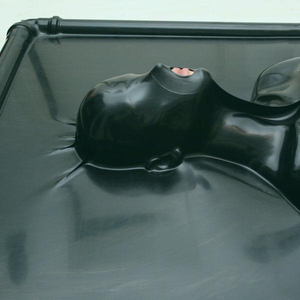 sexy fetsish rubber cleaner latex vacuum bed