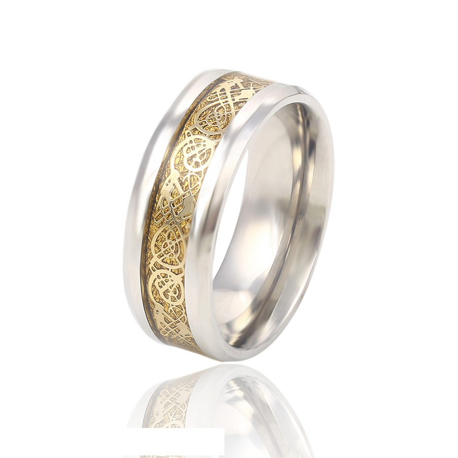 13784 Xuping fashion gold stainless steel ring mens jewelry