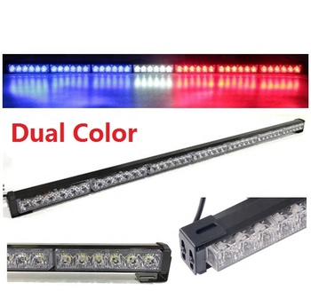 Free  shipping Dual Color traffic advisor led lightbar led light bar interior mount dual color directional led light bar strobe
