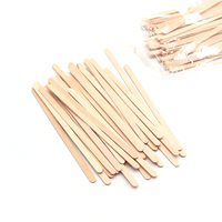 cheap wholesale eco friendly fancy birch wooden bamboo coffee tea stir stick with individual paper wrap
