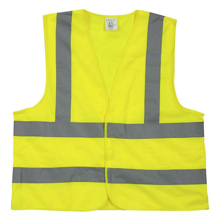 health and polyester safety vest with reflective tapes for traffic