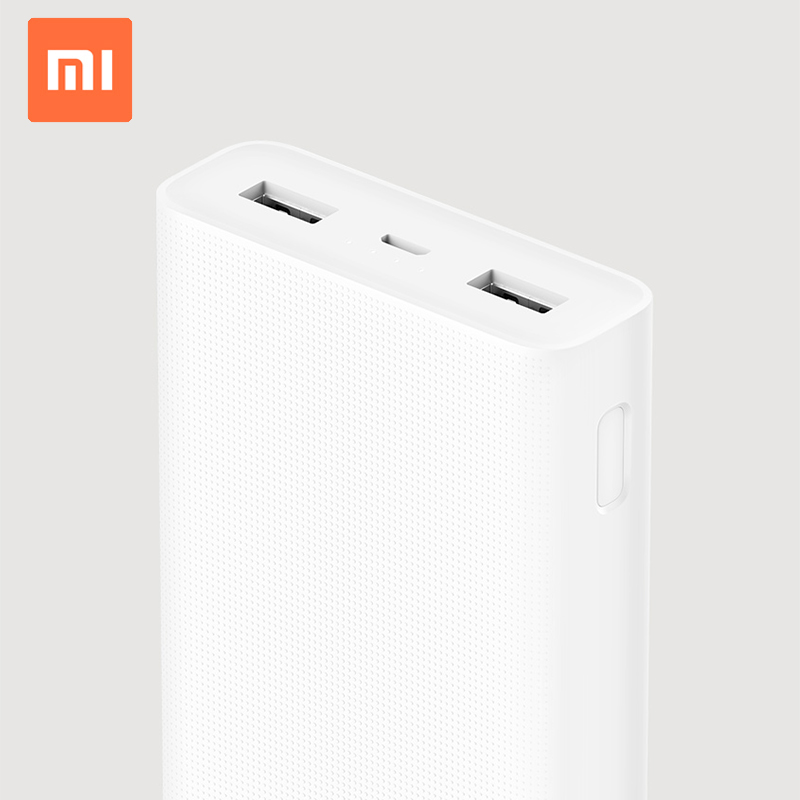 Original Xiaomi Power Bank 2c 20000 mAh Dual USB Port External Battery Charger Pack Portable Charger фото