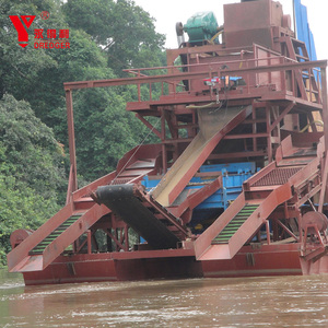 2019 Hot selling chain bucket river sand dredger/bucket gold dredge for sale