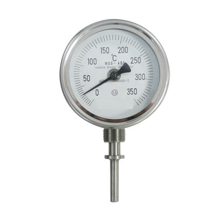 Industrielle zifferblatt bi-metall thermometer öl dampf mechanische temperatur gauge