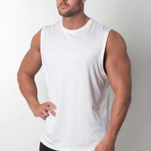 Wholesale  Men 100% cotton Gyms   Bodybuilding Sleeveless Shirt Fitness Clothing