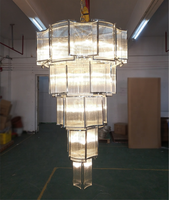 Modern chandelier art deco gold chandeliers pendant light glass chandelier lighting for hotel ETL89101