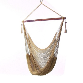 HR high quality rope hammock chair gold color beautiful hanging swing chair high-end hammock chair