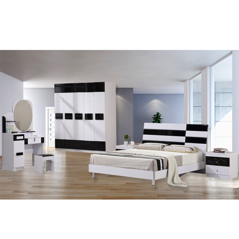 White Black Color Modern Design Bedroom Furniture Set Features Storage Box  And High Gloss - Buy Bedroom Furniture Sets,Bed Room Set,Queen Bedroom Set  ...