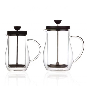 Do Ecocoffee 350ml 600ml Double Wall Glass French Press / Coffee plunger / Stainless Steel Coffee Maker XT02