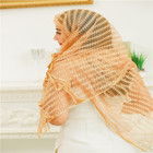 Beauty gauze grid Grain head shawl scarf foulard tulle silk scarf