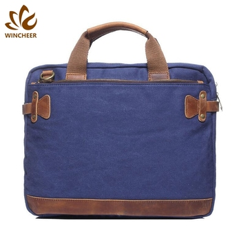 China supplier personalized business computer canvas men's handbag briefcase laptop bag
