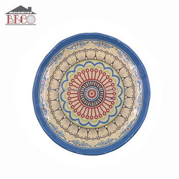 Bsci Factory Custom Design Round Melamine Dinner Plate