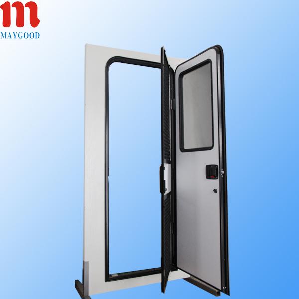 heat insulation RV Double Aluminum Entry Door with double glazed ...