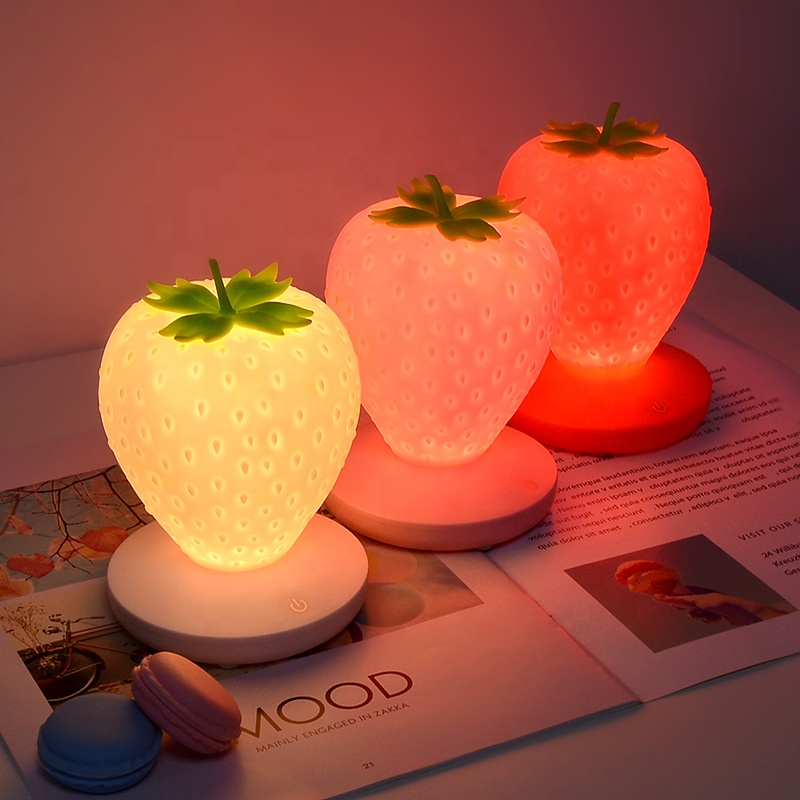 <strong>Colorful</strong> touch sensor led bedside lamps soft silicone soft baby night <strong>light</strong> for kids
