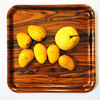 Bent Solid Children Customize Rolling Serving square restaurant wood serving tray