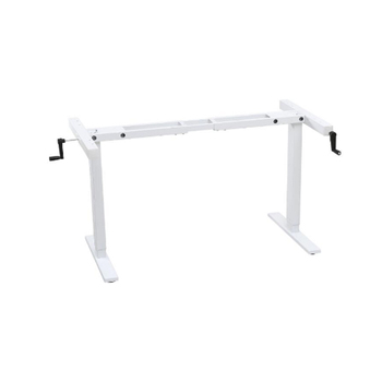 Dual crank manual ergonomic aluminum frame  lift stand up and sit table desks