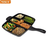 Master Pan Divider cast iron skillet for All-in-One Cooked Breakfast & More! 32x38cm