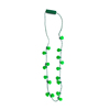 Direct Manufacturer Customized Flashing Plastic Shamrocks 6 Led Light Up Necklace For St Patrick'S Day Sale