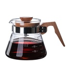 High borosilicate glass teapot transparent coffee pot