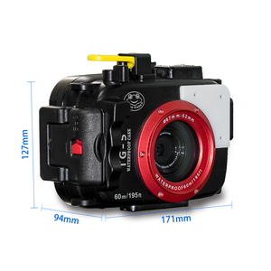Meikon TG-5 diving camera housing IPX8 60M waterproof  digital underwater camera case for TG-5  diving photography housing