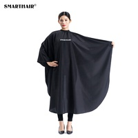 Smart Hair High Quality Black Customized Barber Shop Polyester Cape Logo Hair Cutting Salon Hairdresser Cape Barber