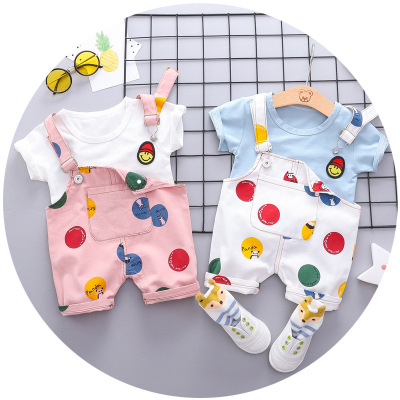 2019 Summer New Design Baby Boy Clothes Boys Overalls Set Fashion Printed T Shirt Denim Suspenders Short 2pcs Outfits As Picture Buy At The Price Of 6 00 In Alibaba Com Imall Com