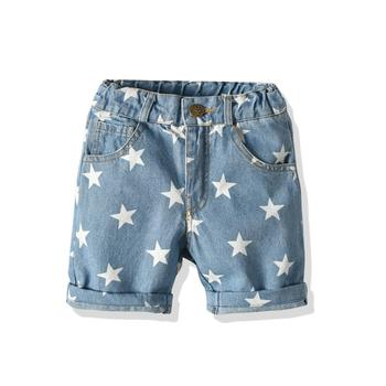 2-7 years 2019 New Wholesale Summer Cotton Baby Boys high-waisted knit jean trousers