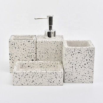 bathroom accessories modern set marble concrete items