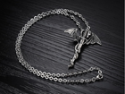 Stainless Steel Jewelry Antique Silver Zinc Alloy Vintage Dragon Necklace Pendant Chain For Men