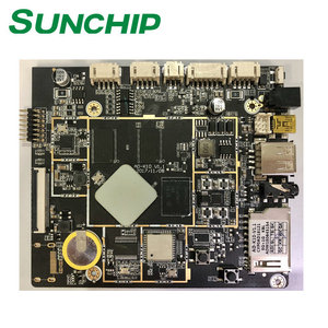 Cheapest Rockchip RK3128 1G 8G Android ARM Board Digital Signage  Advertising Player from SUNCHIP