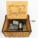 Wholesale Costom Hand Crank Wooden Music Box You Are My Sunshine Music Box