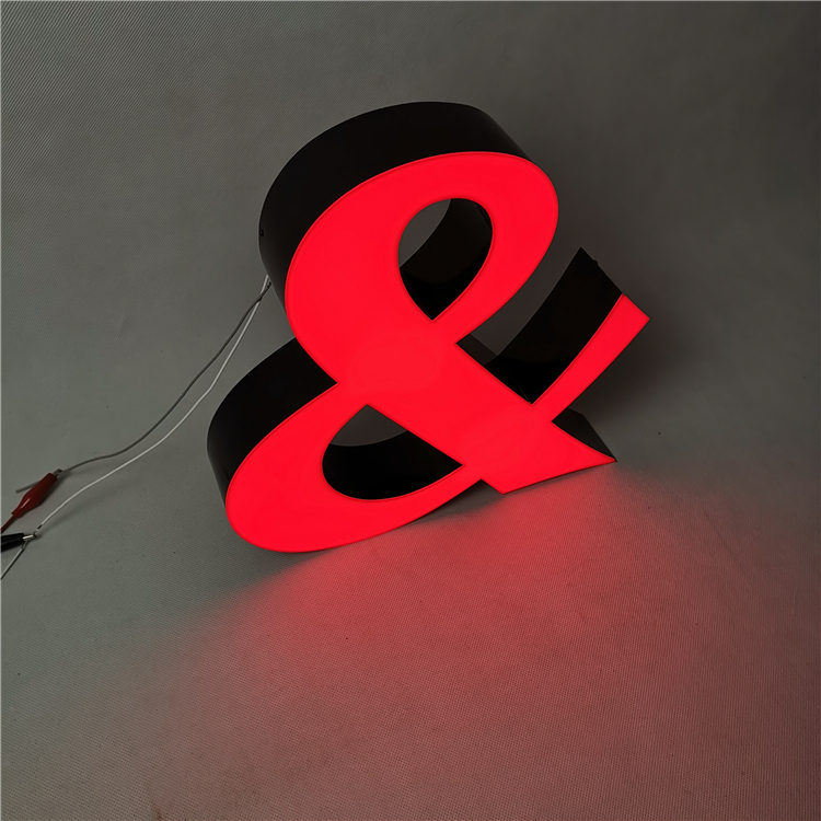 3D Led Letter Sign No Edge Advertising led light word trimless led channel letters for outdoor sign