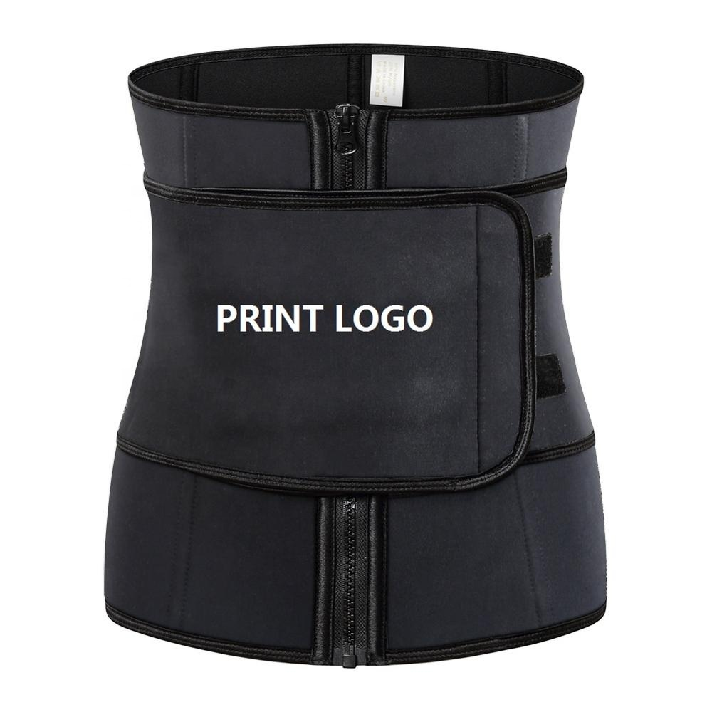 Women Hot Sweat Neoprene Waist Trainer Corset Trimmer Belt Body Shaper Slimming Waist Cincher Customized logo фото