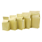 Natural Kraft Chocolate Coffee Tea Bags Air Valve Reclosable Ziplock Reusable Packaging Diodegradable Recycling Custom-Size Box